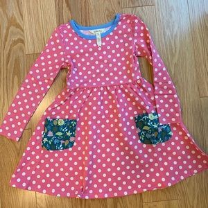 Matilda Jane Polka Dots collecting leaves dress